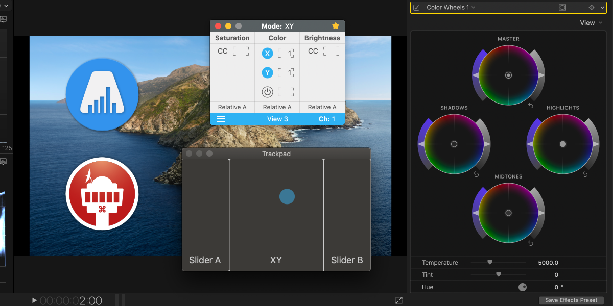 Color Grading in Final Cut Pro X with a Trackpad