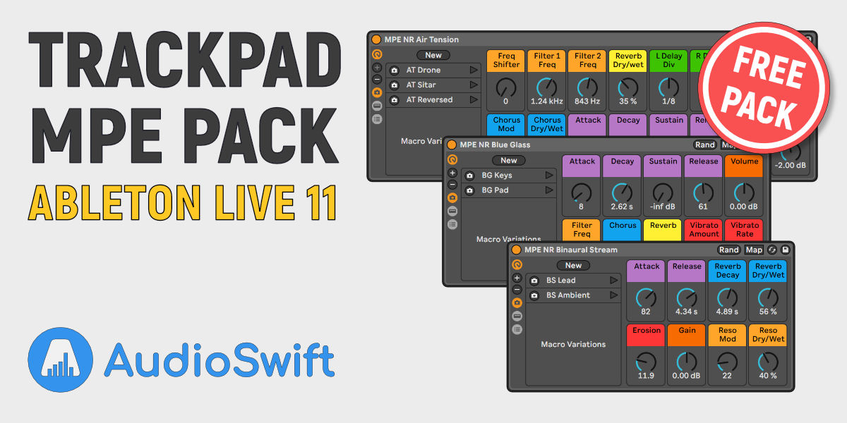Free Trackpad MPE Pack for Ableton Live 11 + Tutorial